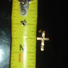 Baby Childs Yellow Gold 14k Christian Crucifix Cross Saints Jesus Baby Pendant #charm
