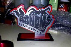 Custom free standing plaque award made by Scorpion Ridge