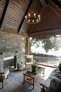 What Better Way To Stay Away From The MN Mosquitos Than With A Screened In  Porch? This Space Is Equipped With Fireplace, Cedar Tongue And Groove  Ceiling, ...