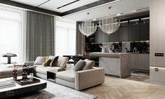 HOME DESIGNING: Luxury Modern Living In Grey And Gold - Contemporary Designers Furniture – Da Vinci Lifestyle