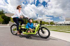 Familien in der Stadt Bern können kostenlos drei Monate lang ein Cargo-E-Bike «Load hybrid» testen. Die insgesamt acht Cargo-E-Bikes mit einer Ladefläche für zwei Kinder im Kindersitz oder bis 200 kg Fracht teilen sich jeweils drei Familien, um eine möglichst hohe Ausnutzung der Räder zu erreichen. Das Projekt mit dem Namen «CaKi-Bike» läuft von März bis Dezember 2014.
