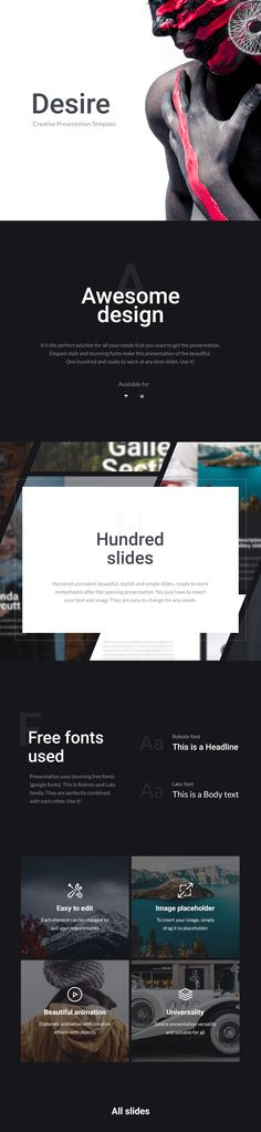 It is the perfect solution for all your needs that you want to get the presentation. Elegant style and stunning fonts make this presentation of the beautiful. One hundred and ready to work at any time slides. Use it!