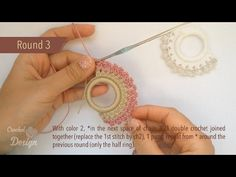 In this tutorial I will be showing you how to crochet on a curtain ring to use for your napkin as a gorgeous decoration. It takes only few minutes and few amount of yarn using basic crochet stitches to create this small but Basic Crochet Stitches, Crochet Basics, Thread Crochet, Tutorial Anillo, Resin Tutorial, Crochet Designs, Crochet Patterns, Crochet Rings, Easter Crochet