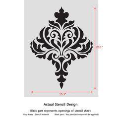 Image result for damask stencils