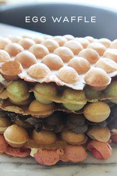 Sunday Brunch: Hong Kong Bubble Waffle Recipe I Am A . Green Tea Chocolate Oreo And Taro Bubble Waffle Cones . Waffles I Recipe Dishmaps. Home and Family Waffle Recipe Allrecipes, Egg Waffle Recipe, Waffle Recipes, Soup Recipes, Chicken Recipes, Cooking Recipes, Pan Recipe, Healthy Recipes, Asian Snacks