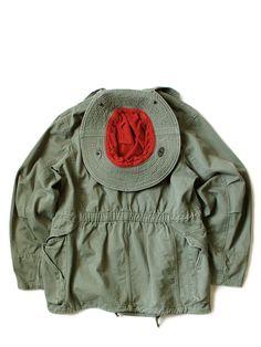 KAPITAL Military Archives, Iris Van Herpen, Hunting Jackets, Gypsy Life, Van Life, Hoods, Indigo, Ruffle Blouse, Detail
