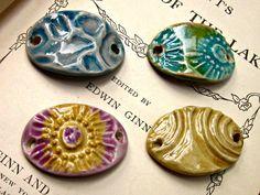 Porcelain Ceramic Curved Oval Bracelet Bars by JeraLunaDesigns, $10.00