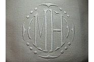 Monogram embroidery Initials MH