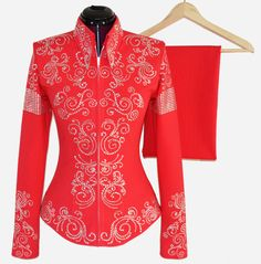 Electric Tangerine Showmanship Suit, $850.00 by Lisa Nelle Show Clothing