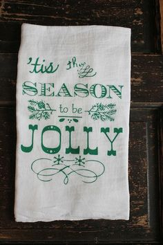 Christmas Towel 1 Flour Sack Towel by MODERNVINTAGEMARKET, $9.00