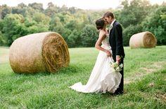 gorgeous hay field portrait