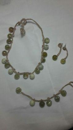 Collana orecchini e bracciale a crochet  Francesca Bulfamante
