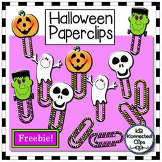Freebie! Halloween Paperclips This is a fun freebie for you to enjoy. Add a bit of Halloween to your newsletters, notes, reminders, etc,. with these cute Halloween paperclips. https://www.teacherspayteachers.com/Product/Freebie-Halloween-Paper-Clips-2120786