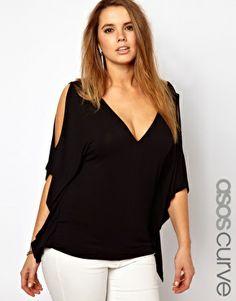 ASOS CURVE T-Shirt With Batwing Sleeves Koko 20