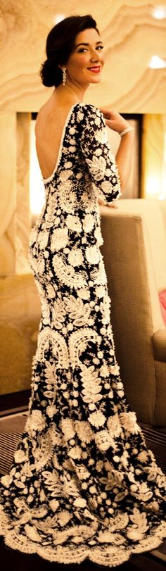 Oscar de la Renta. My God some people are so gifted.. they create the most extravagant things.