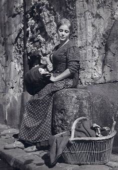 """Gervaise Macquart Coupeau played by Maria Schell in """"Gervaise"""" (1956) based on the novel """"L'Assommoir"""" by Emil Zola."""