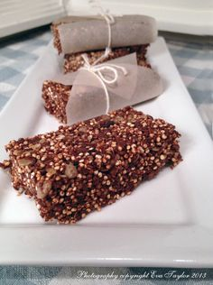 Quinoa Energy Bars - puffed quinoa