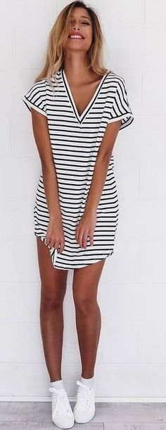 Stripe Little Dress                                                                             Source