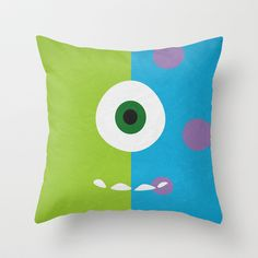 Monsters Inc - Minimalist Poster 02 Throw Pillow by Misery - $20.00