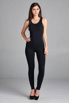 474c6e479a Ladies fashion sleeveless bodycon jumpsuit