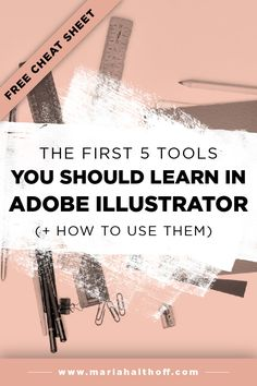 If you're trying to learn Adobe Illustrator, this is the post to start with! I'm teaching you how to use the five most basic Illustrator tools so you can DIY your own graphic design projects.