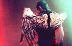 """Icarus Iscariot by Sempaiko """"The walking Daryl... ^_^""""  #wings #fanart #the walking dead"""