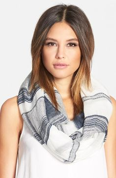 Nordstrom+Texture+Stripe+Infinity+Scarf+available+at+#Nordstrom
