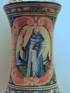 Albarello (Drug jar) Maiolica Italian Palermo 1550-1570