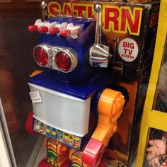 Saturn Robot at Brooks Collectables in Blackpool. I had the same robot in different colours as a kid.
