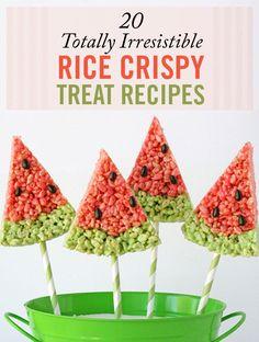 rice crispy watermelon treats