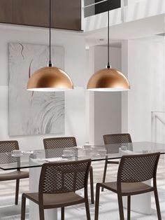 Pendant lamp / contemporary / metal LUA 823/40 JOU Diseño & Luz