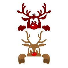 Cute Christmas Reindeer SVG Cuttable Designs FREE one added daily Christmas Stencils, Christmas Vinyl, Christmas Ornament Crafts, Christmas Projects, Holiday Crafts, Merry Christmas, Christmas Decorations, Christmas Raindeer, Reindeer Ornaments