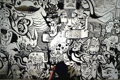En Masse A Montreal artist collective collaborates with the San Diego Art Fair San Diego, Graffiti Art, Montreal, Pop Art, Art Et Illustration, Illustrations, Sharpie Art, Drawing Artist, Art Fair