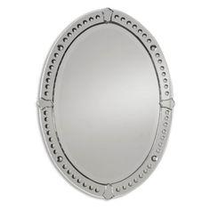 Uttermost Graziano Venetian Oval Mirror - 24.5W x 33.5H in.