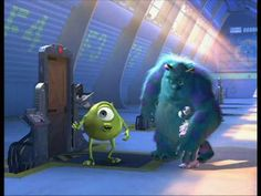 """Monsters Inc bloopers ohmygosh. If Roz came out one more time I was going to wake up my whole neighborhood laughing. featuring the much anticipated musical debut of """"Put that thing back where it came from or so help me""""  Update: even more amazing when you remember that it took 12 hours to render a single frame of Sully. Pixar will do anything for a laugh, it seems."""