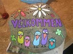 Billedresultat for Børn maler på sten