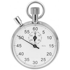 Woodford Chrome Plated Spring Wound Stopwatch - Pocket Watches from Pocket Watch UK