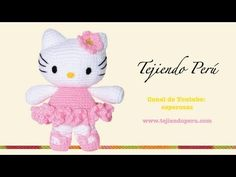 ▶ Hello Kitty tejida a crochet (amigurumi) Parte 2: cuerpo - YouTube