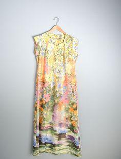 Vintage 70s Maxi Floral Pastel House Dress / by PerennialPast, $30.00