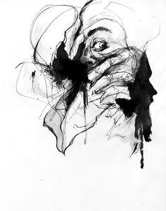 inside gray eyes by agnes-cecile.deviantart.com