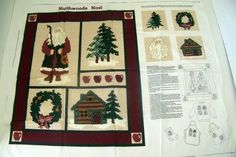 Northwood Noel Wall Hanging Applique Panel Christmas Fabric Craft Project $8