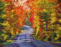 Autumn Roads David Lloyd Glover