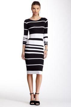 Love...Ady Long Sleeve Varigated Stripe Dress on HauteLook