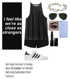 """Untitled #16"" by punk-rock-dreamer ❤ liked on Polyvore featuring H&M, Accessorize, Illamasqua and Ray-Ban"