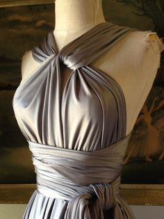 Jaws Pewter Long Octopus Convertible Infinity Wrap Gown. $108.99, via Etsy.