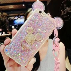 e3470c96611 Luxury Cute Bling Giltter Diamond Mouse Ring Kickstand Strap Phone Case  Cover For iPhone 6 Plus inch