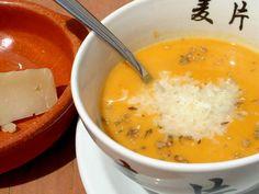 Receta Entrante : Crema de judías y calabaza por Saltamontes
