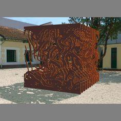 Corten sculpture Cortenstalen kunstwerk