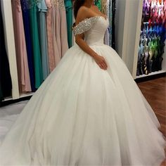 Vestidos De Novia Plus Size Women Wedding Dress With Lace Sleeves Custom Made Off Shoulder Beaded Ball Gown 2016 Bridal Dresses-in Wedding Dresses from Weddings & Events on Aliexpress.com | Alibaba Group