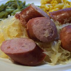 """Slow Cooker Kielbasa and Beer 